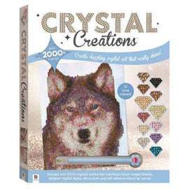 Crystal Creations - Wolf In Snow LARGE
