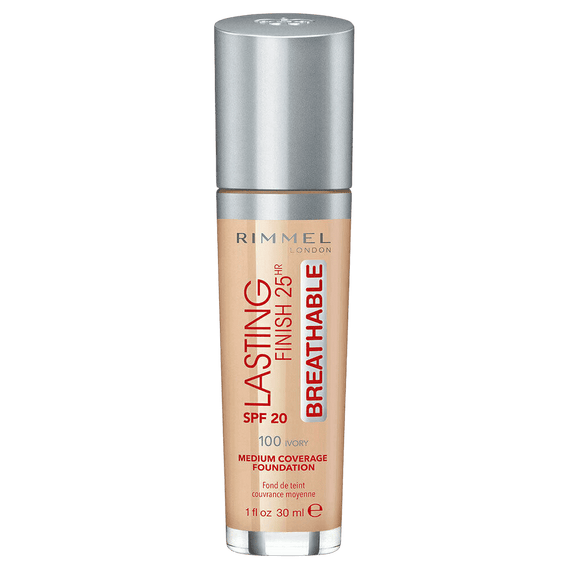 Rimmel London 30Ml Lasting Finish 25Hr Foundation 100 Ivory Spf20 (Non Carded)