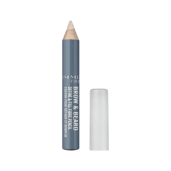 Rimmel For Men 2.2G Brow & Beard Hold & Groom Wax Crayon 001 Clear (Non Carded)