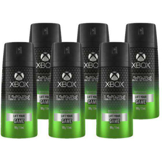 Lynx 100G Body Spray Xbox Lift Your Game Deodorant- 6 Pack