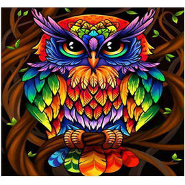 Diamond Art Picture Half Drill Size 30X40 Owl Art