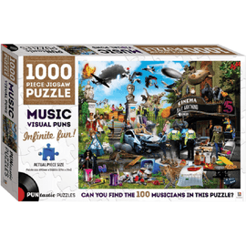 Hinkler Puntastic Puzzles Music Visual Puns - 1000pc Jigsaw Puzzle