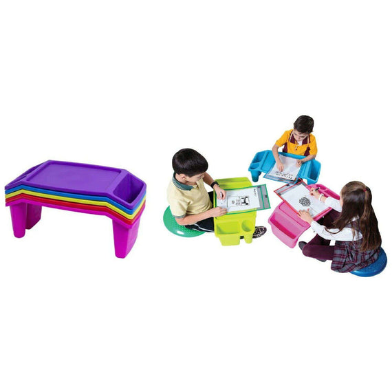 Kids Lap Desk Plastic Lap Tray- Purple