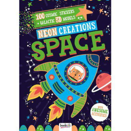 Neon Creations Space -100 Cosmic Stickers + Galactic 3D Models