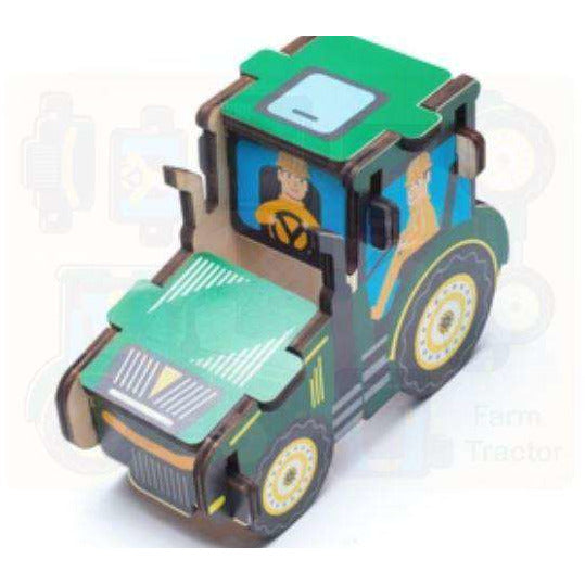 Kids wood Puzzle- Farm Tractor