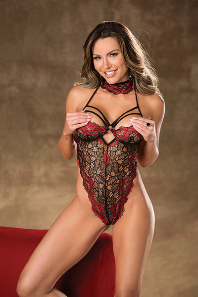 Two-Toned Lace Teddy