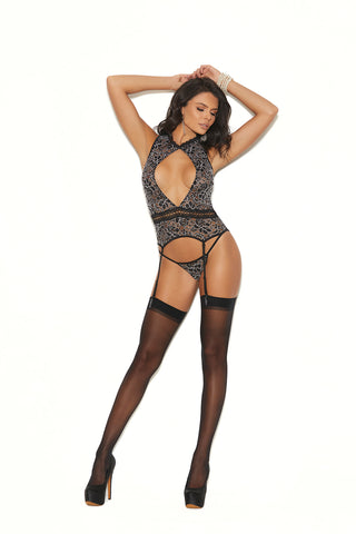 Camisette with Matching G-String and garter