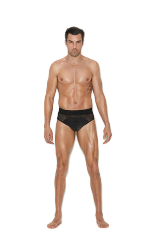 Men's mesh and lycra jock strap