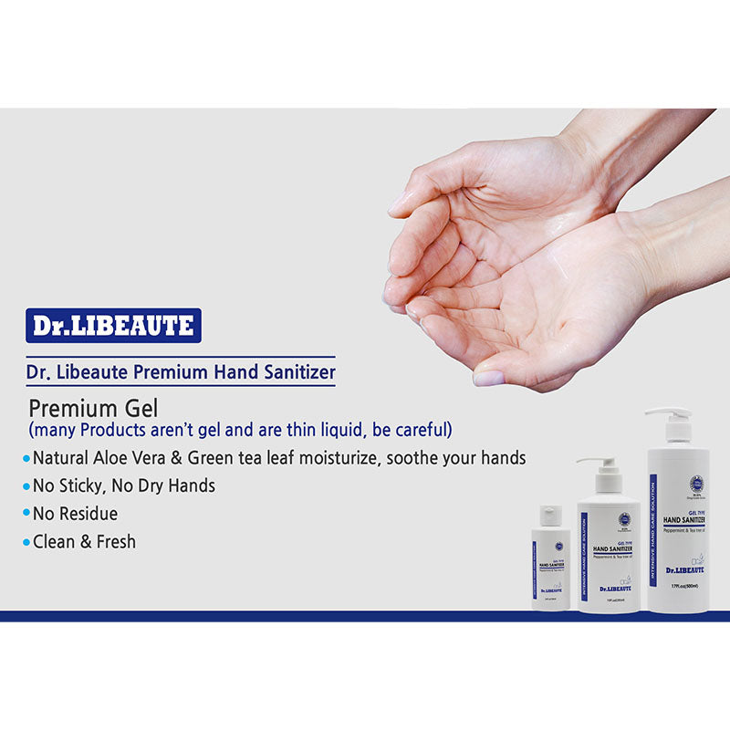 Dr. Libeaute Premium Hand Sanitizer 6 Packs Spray type, 10oz (295ml) 75% Medical Grade Alcohol, Instantly Sanitizing,  Safe & Effective