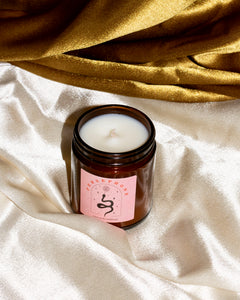 Fall Winter 2020 leather, patchouli scented candle