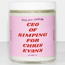 Load image into Gallery viewer, CEO of Simping For Chris Evans Candle