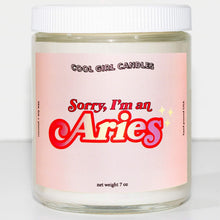 Load image into Gallery viewer, Aries Zodiac Candle