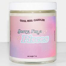 Load image into Gallery viewer, aesthetic pisces zodiac candle