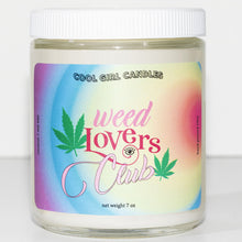 Load image into Gallery viewer, weed lovers club candle