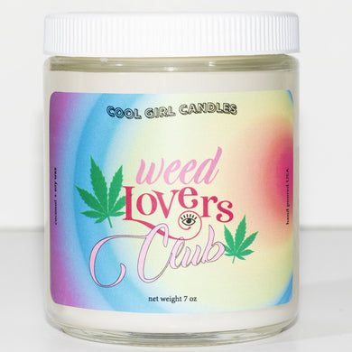 weed lovers club candle