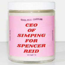 Load image into Gallery viewer, this smells like spencer reid candle CEO of simping for spencer reid candle