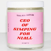 Load image into Gallery viewer, this smells like naill horan candle ceo of simping for naill horan candle