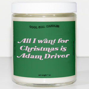 all i want for christmas is adam driver candle this smells like adam driver candle cute christmas decor aesthetic candle