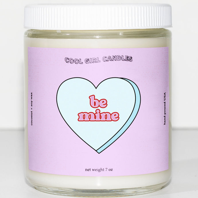 be mine candy heart candle cute valentines candle