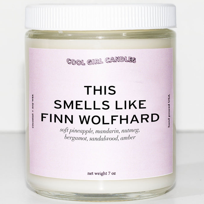 this smells like finn wolfhard candle by cool girl candles