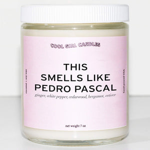 this smells like pedro pascal candle by cool girl candles