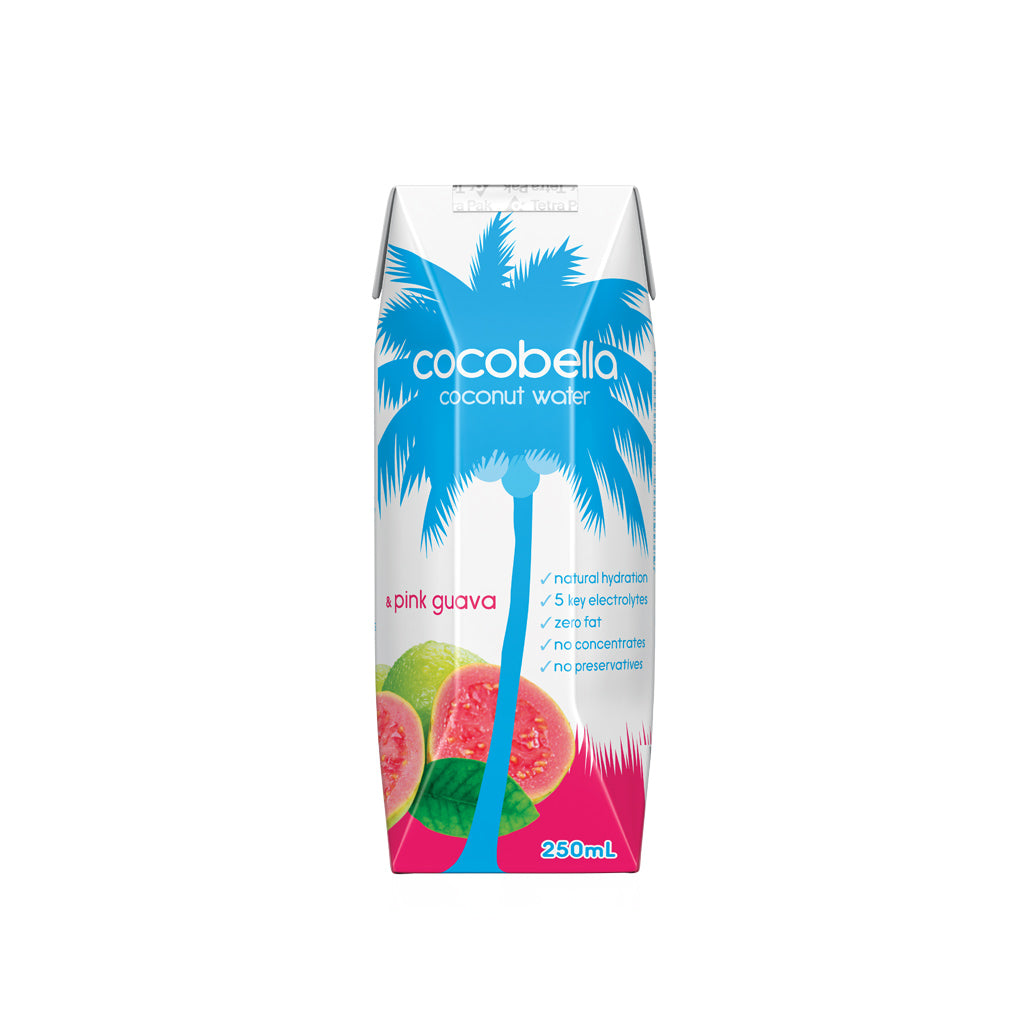 Cocobella Coconut Water - Pink Guava 12x250mL