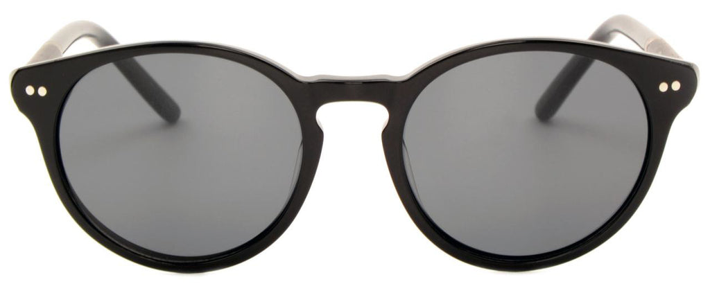 Round acetate polarised sunglasses jo