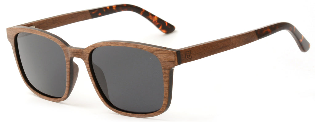 Polarised walnut wood sunglasses Eli