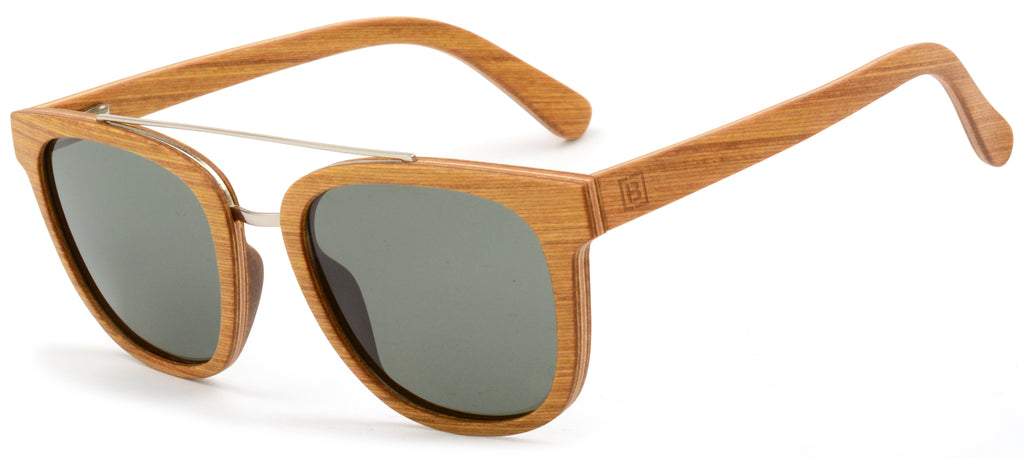 polarised white wood hi bar wood sunglasses entourage