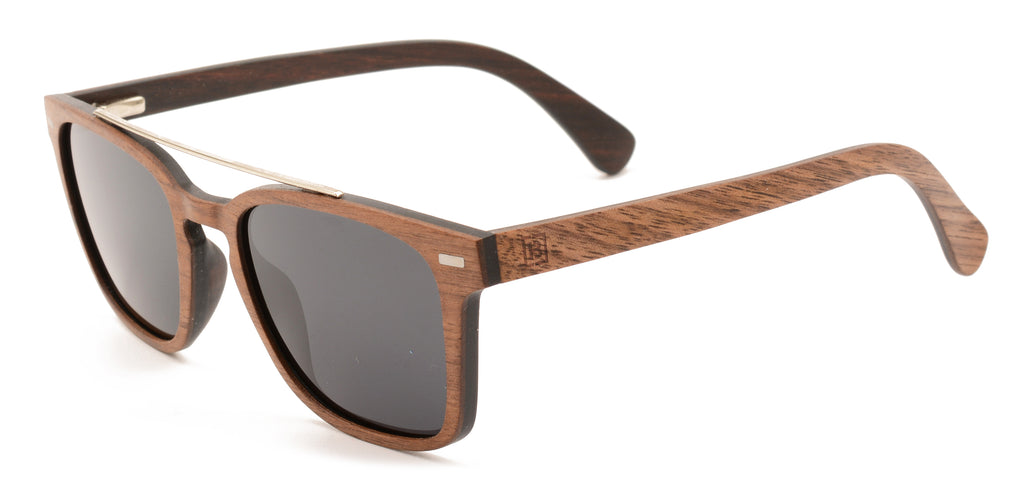 polarised walnut hi bar wood sunglasses entourage