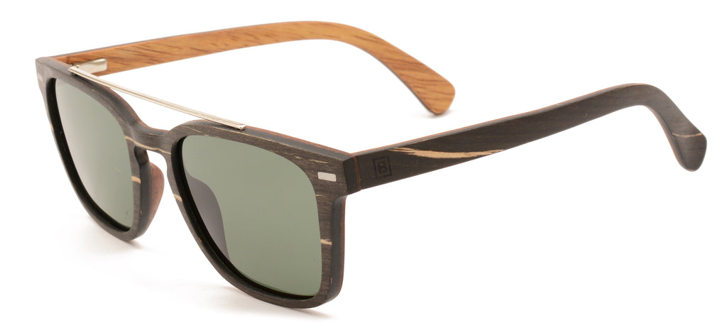 Polarised wood hi bar sunglasses entourage