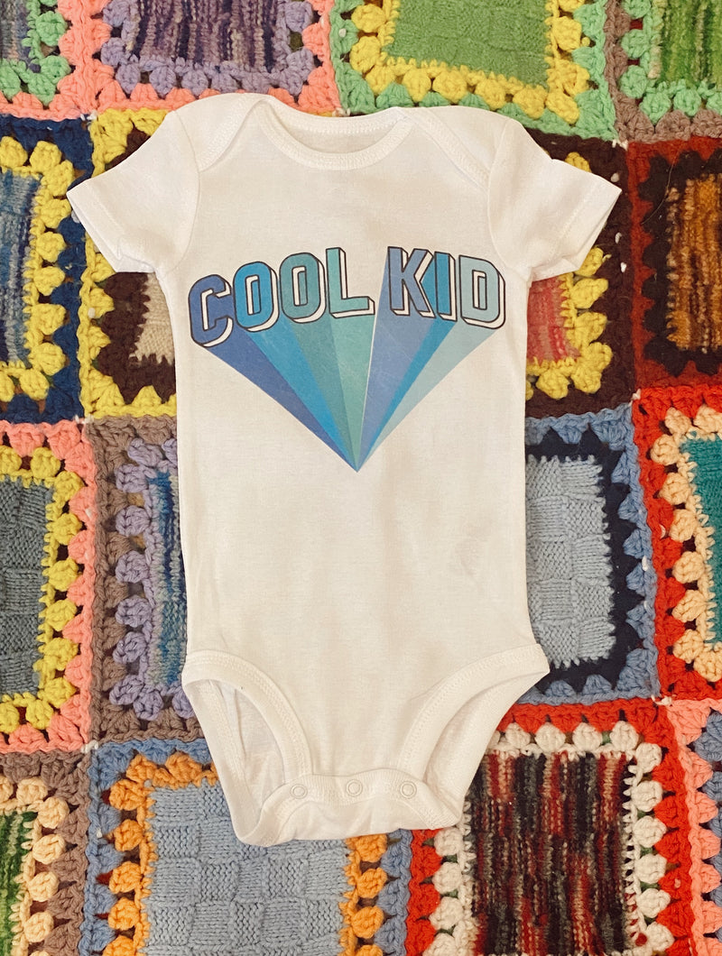Cool Kid Onesie-Blue - Mamie Ruth