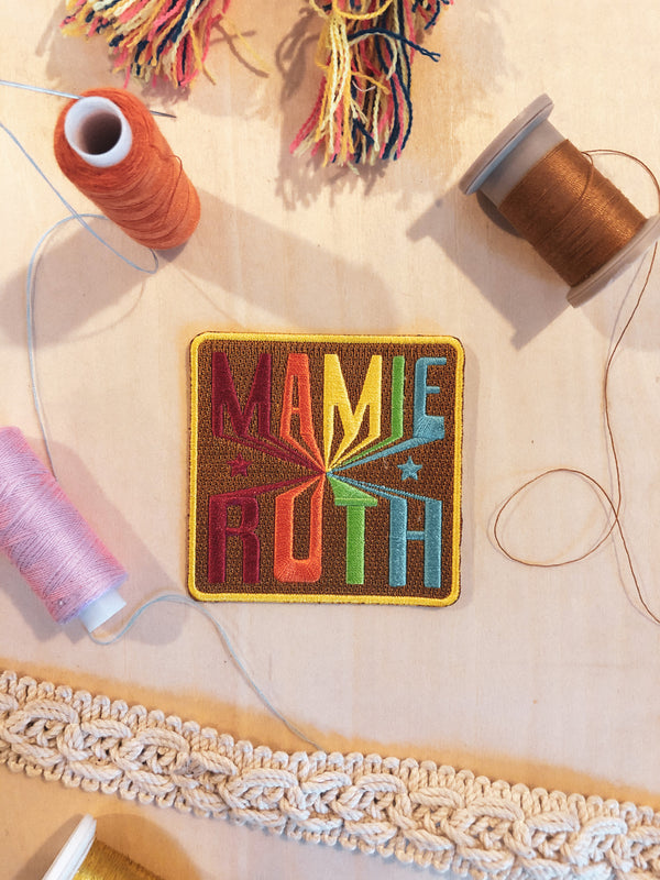 Mamie Rainbow Iron-on Patch - Mamie Ruth