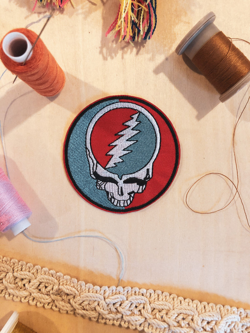 Grateful Dead Skull Iron-on Patch - Mamie Ruth