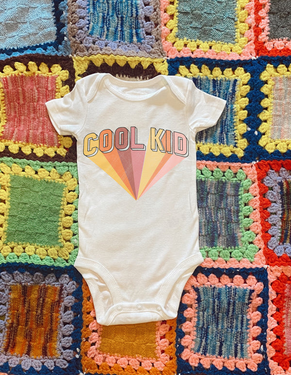 Cool Kid Onesie- Red - Mamie Ruth