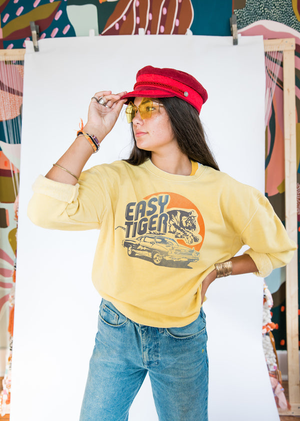 EASY TIGER SWEATSHIRT - Mamie Ruth