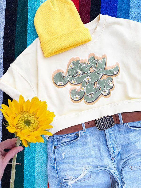 MARY JANE CROPPED SWEATSHIRT