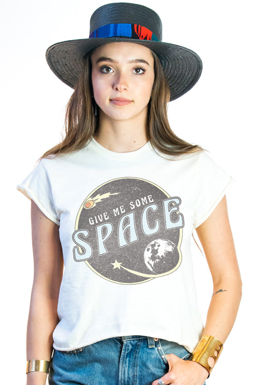 Outer space Vintage Distressed Graphic T-shirt