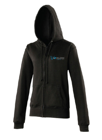 MF PILATES Ladies Black Zipped Hoodie (MAF0227)