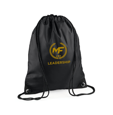 MF Leadership Black Draw String Bag (MAF0299)