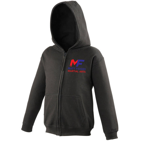 MF Zipped Hoodie Black Childrens (MAF0099)