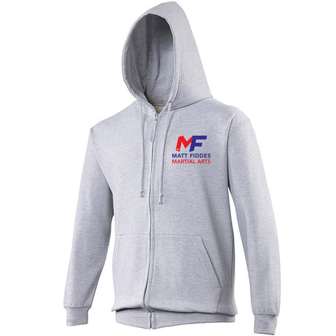 MF Zipped Hoodie Grey Adult (MAF0102)