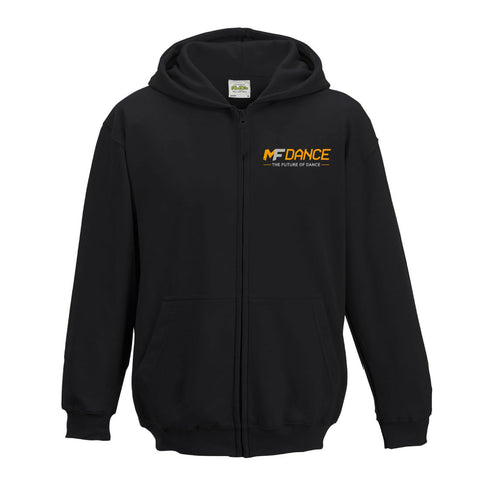 MFDANCE Zipped Hoodie Black Childrens (MAF0105)
