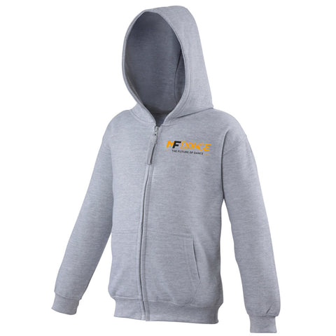 MFDANCE Zipped Hoodie Grey Childrens (MAF0109)