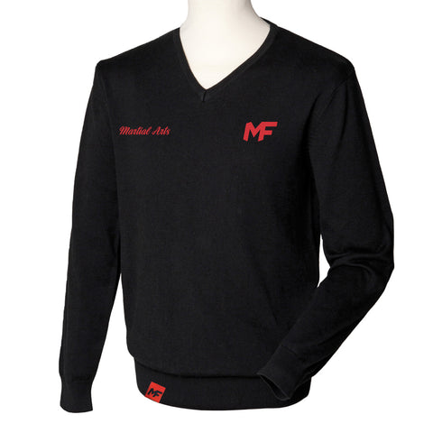 MF Martial Arts Black V-neck Jumper (MAF303)