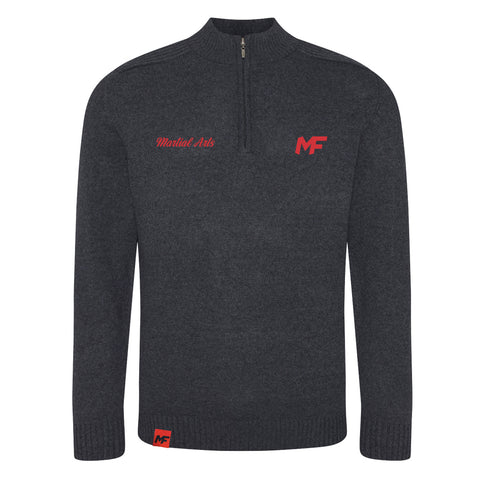 MF Martial Arts Charcoal Wakhan ¼ zip knit sweater (MAF305)