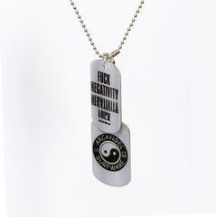 Fuck Negativity Dog Tags (SRF-030)