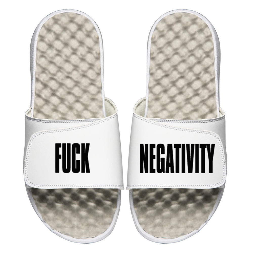 Fuck Negativity White Slides (SRF-037)