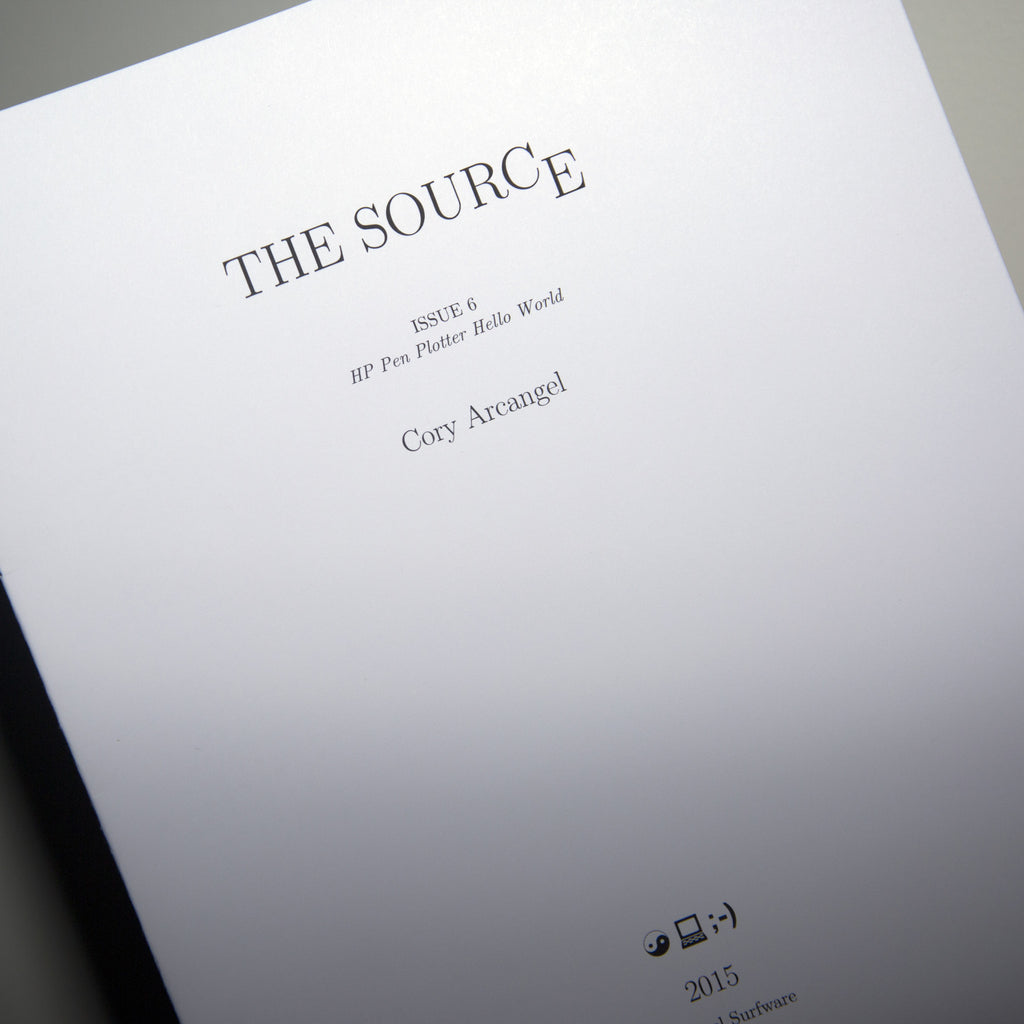 The Source Issue #6: HP Pen Plotter Hello World (SRF-022)