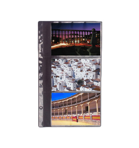 127-R - 4x6 Black Single Sheet in 3-High Stack Format. Package consists of 12 sheets plus extension posts.